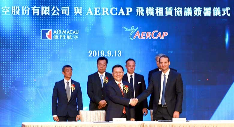 Air Macau Lease Agreement 321neo Anniversary Ceremony